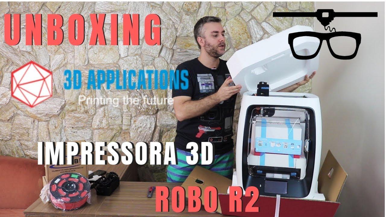 Unboxing Impressora 3D Robo R2